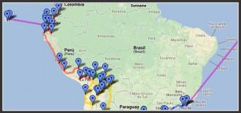 Amériques du Sud, la Carte