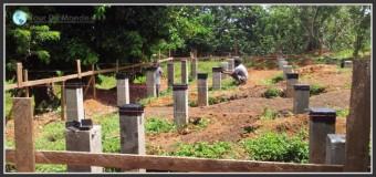 Fondations béton armé et pose des madriers – Ep 5