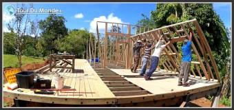 Structure bois, fabrication et élévation des murs – Ep 8