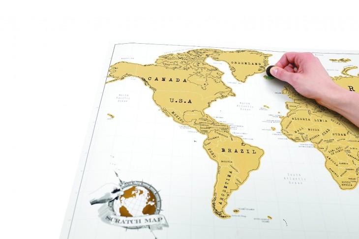 map monde à gratter