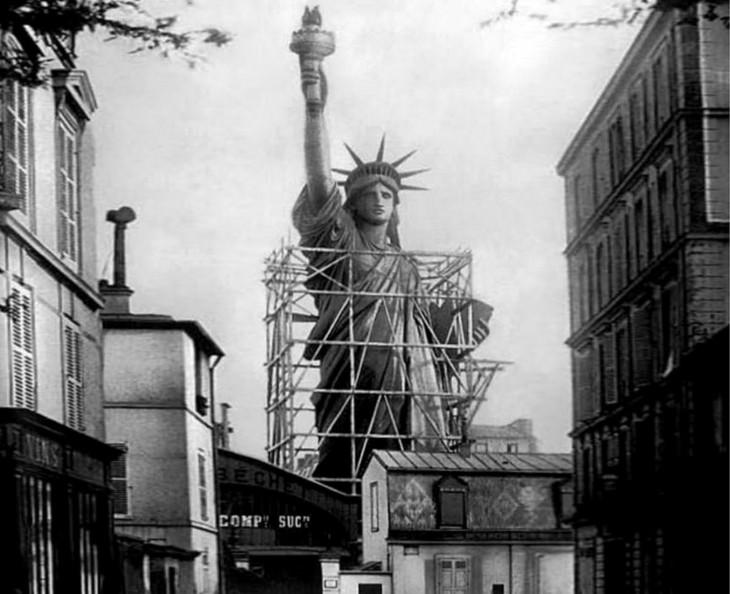 construction statue de la liberté